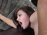 Cutie drilled doggystyle in a scene that has her cumming hard