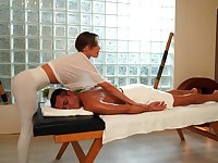 Smooth massage leads horny masseuse to insane fucking