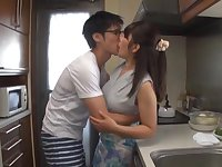 Quickie fucking in the kitchen with horny room-mate Kawaguchi Hasumi