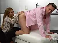 The best ever wife gives a rimjob and allows to penetrate ass hole