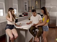 Sexy Lily Adams and her stepbrother hook up with hot teen Ms Faris