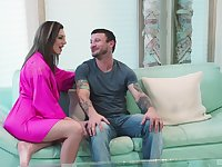 Fine woman shows this man the real pleasure when riding his pole