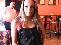 Kinky babe Teal Conrad enjoys flashing her tits in public