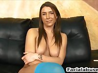 Felicity Feline hatch nailed rock hard at Facial Cumshot