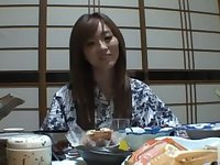 Traditional babe Rina Kato have a nice fuck after dinner.