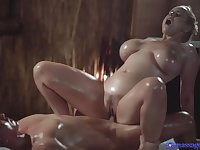 Slippery Natural Giant Titty Massage