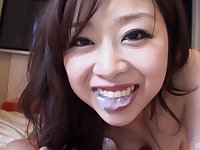 Pretty Japanese girl Anna knows how to pleasure a stiff dick