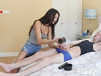Controlling Skinny Stepsister Eliza Ibarra Catches Cock