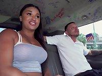 Bang bus oral experience for a thick Latina
