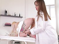 Hot female nurse gets intimate with premium lesbian doctor