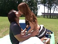 Kurea Hasumi in Black Gal Outdoor Nakadashi part 4