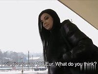 Hot European Girl Fucks For Money