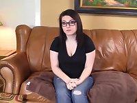 Chubby college girl Louanne Swallows Cum