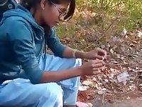 Desi girl enjoying with friends