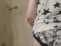 Bbw maryjane in the shower!
