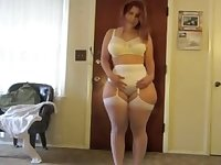 Non-Professional Voluptuous PAWG In Garter & Leggings