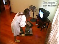 Hidden camera masturbating