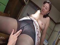 Asian mature sweetie hot sex with a horny young boy