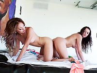 Hot lesbian tryout with Ayumi Anime and Lily Adams
