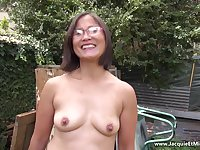 Old lustful Asian happily fucks and sucks black dicks