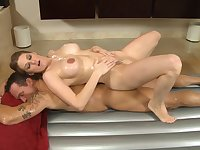 wet babe gives nice massage - allison moore