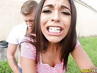 Hot Latina teen Vienna Black gets screwed outdoors