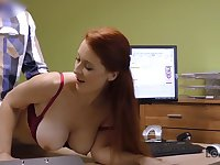 LOAN4K. Big-tittied hot babe with red hair is owned by...