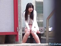 asian 18yo schoolgirl secretly pees