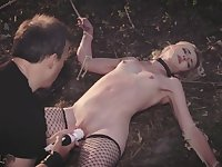 BDSM Submissive slab gets punished and spanked by her master