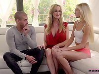 Experienced milf Brandi Love is teaching her stepdaughter how to satisfy boyfriend