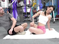 Sporty Latina Matilde Ramos pounded and cum sprayed at the gym