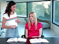 Lesbian mature couple Charlotte Stokely and Emily Willis