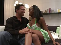 Huge tits of ebony MILF Sandi Jackmon get covered in loads of cum