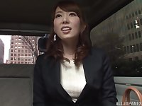 Japanese cutie Hatano Yui seduced and fingered in a car