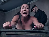 Babe in skirt Nadia White tortured and tied up with her girlfriend
