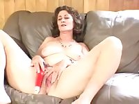 Mature slut wants to masturbate till the waves of ecstasy cascade through her