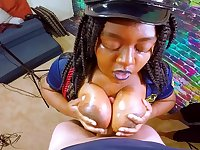 IMPREGNATE ME - Black Cop Slut Takes Intentional Male Milk From HUGE White One-Eyed Snake