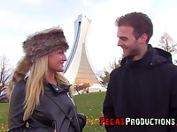 Dude picks up and fucks pretty hot Canadian chick Jemma Valentine