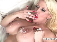 Alura Jenson found herself a big black cock to fill her mouth and pound her juicy fuck hole!