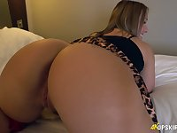 WOW milf with huge appetizing ass Ashley Rider shows her puffy pussy upskirt