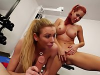 Briana Banks and her friend finally get to share a delicious cock