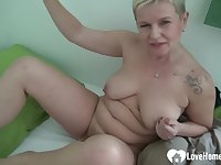 Sexually Attractive blond hair babe uses a dildo on her vagina