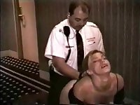 Hotel guard fucks young prostitute in the hallway