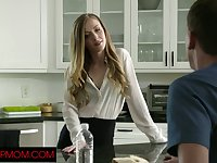 Naughty gal Karla Kush blows and rides dick as soon as she gets home