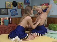 a cheerleader Elsa Jean please wet and tiny pussy of Jill Kassidy