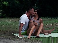 Classy eurobabe buttfucked outdoors
