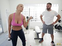 London River enjoys the best sex at the gym with her horny trainer
