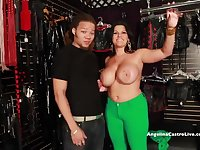 BIG TITTED ANGELINA CASTRO FUCKS & SQUIRT IN A MATING STORE!?