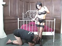 Horny milf Mistress R'eal can't wait to sit on friend's face with her cunt