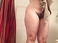Slutty Roommate Spied Drying Off After Shower